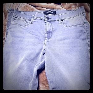 Express Gray stretch jeans
